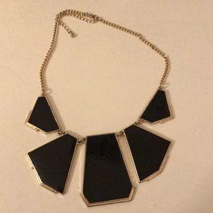 Black statement necklace